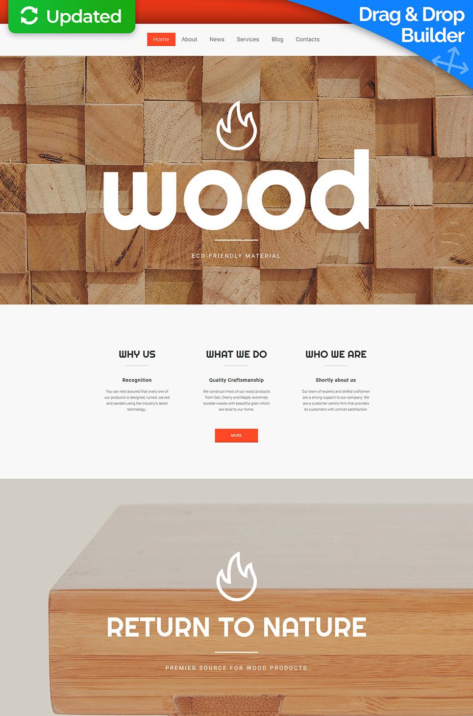 Wood Responsive Website Template - image