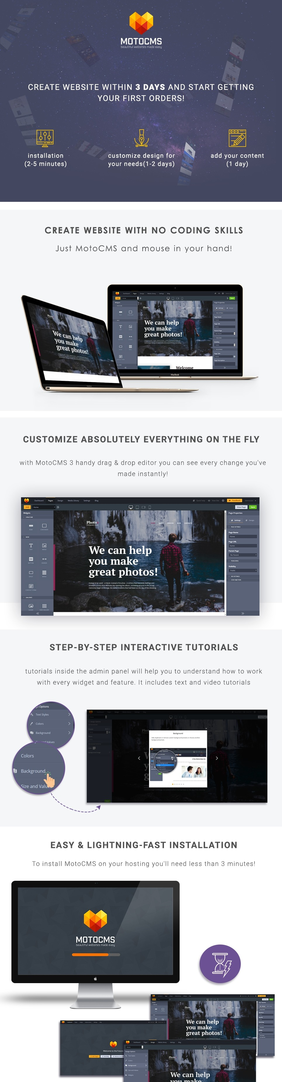 Photography Studio Website Template for Photographers - MotoCMS