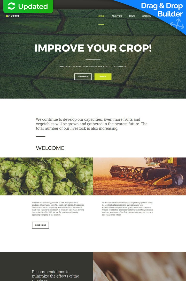 Agriculture Responsive Moto CMS 3 Template New Screenshots BIG