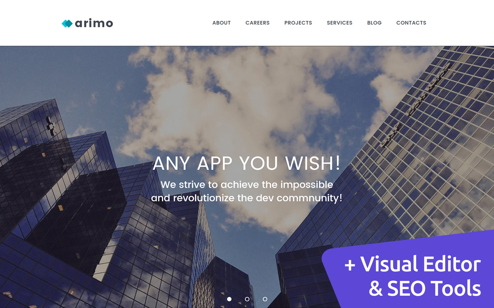 Arimo - Software Company Moto CMS 3 Template