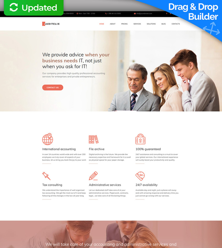Auditelix - Accounting Premium Moto CMS 3 Template