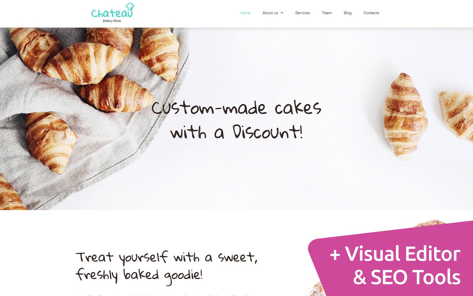 Bakery Responsive Moto CMS 3 Template