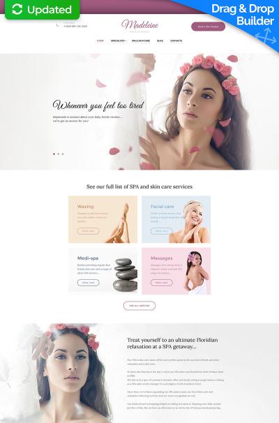 Beauty Salon Responsive Moto CMS 3 Template #59443