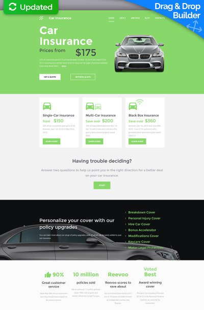 car insurance website templates  Car Insurance Templates | TemplateMonster