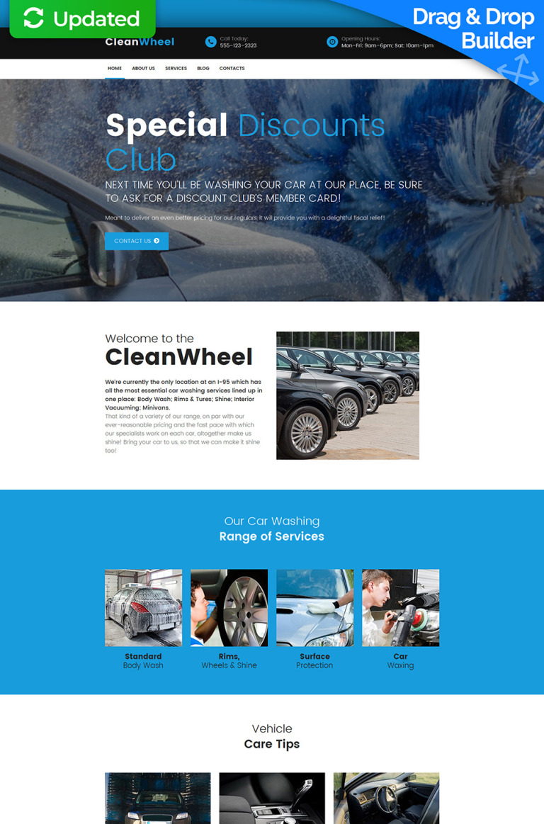 Car Wash Responsive Moto CMS 3 Template New Screenshots BIG