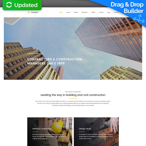 Createso  - MotoCMS 3 Template based on Bootstrap