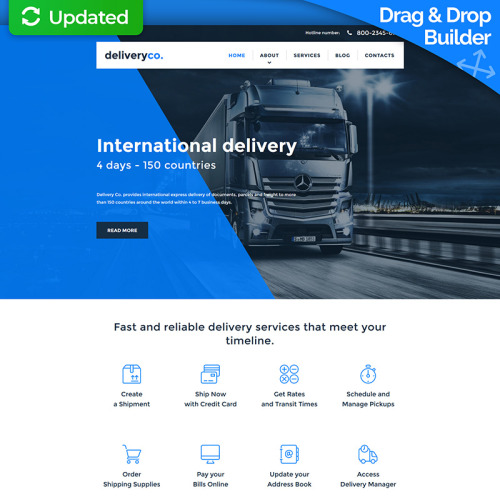Delivery Co. - MotoCMS 3 Template based on Bootstrap