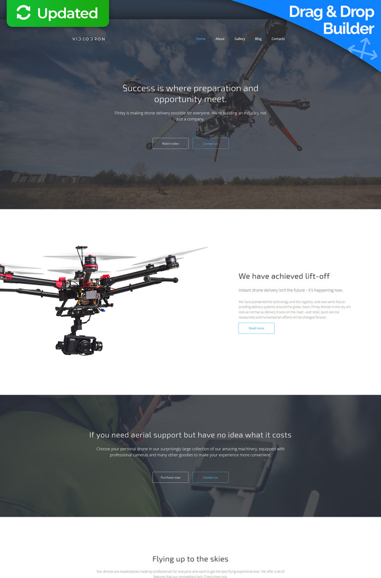 Drone Video Premium Moto CMS 3 Template New Screenshots BIG