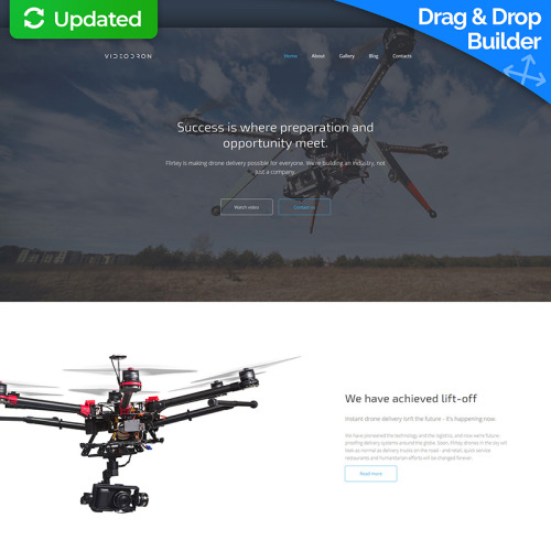 Video Dron  - MotoCMS 3 Template based on Bootstrap