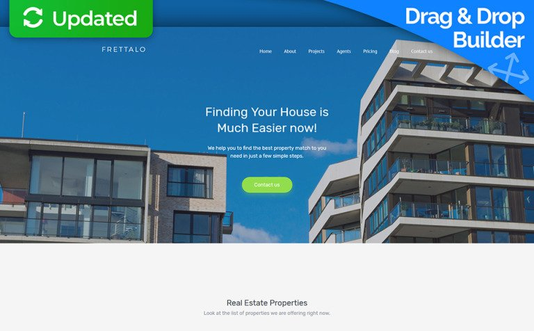 Real estate agent moto cms 3 template frettalo real estate premium moto cms 3 template new screenshots big pronofoot35fo Image collections
