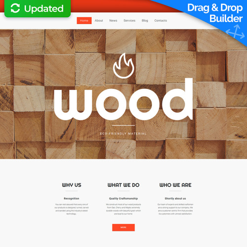 Wood - MotoCMS 3 Template based on Bootstrap