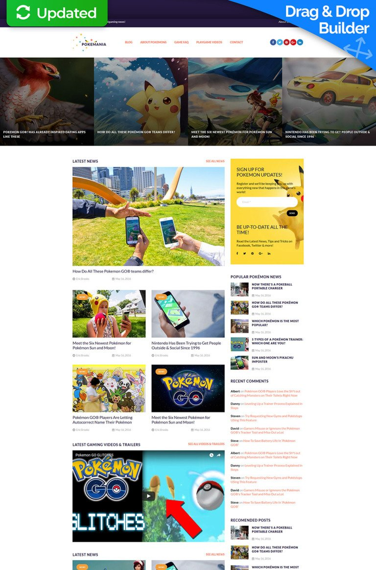 Games Responsive Moto CMS 3 Template New Screenshots BIG