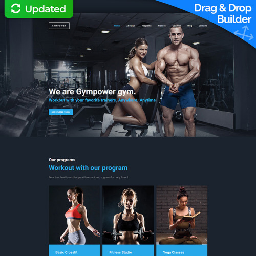 Gym Power  - MotoCMS 3 Fitness Club Template