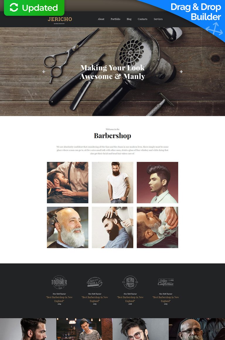 Hair Salon Responsive Moto CMS 3 Template New Screenshots BIG