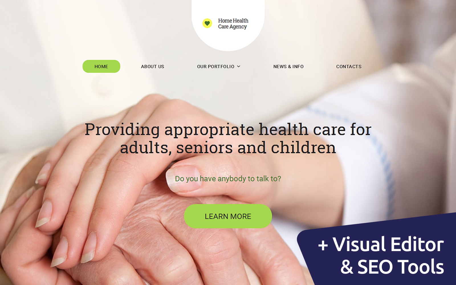 Healthcare Moto CMS 3 Template