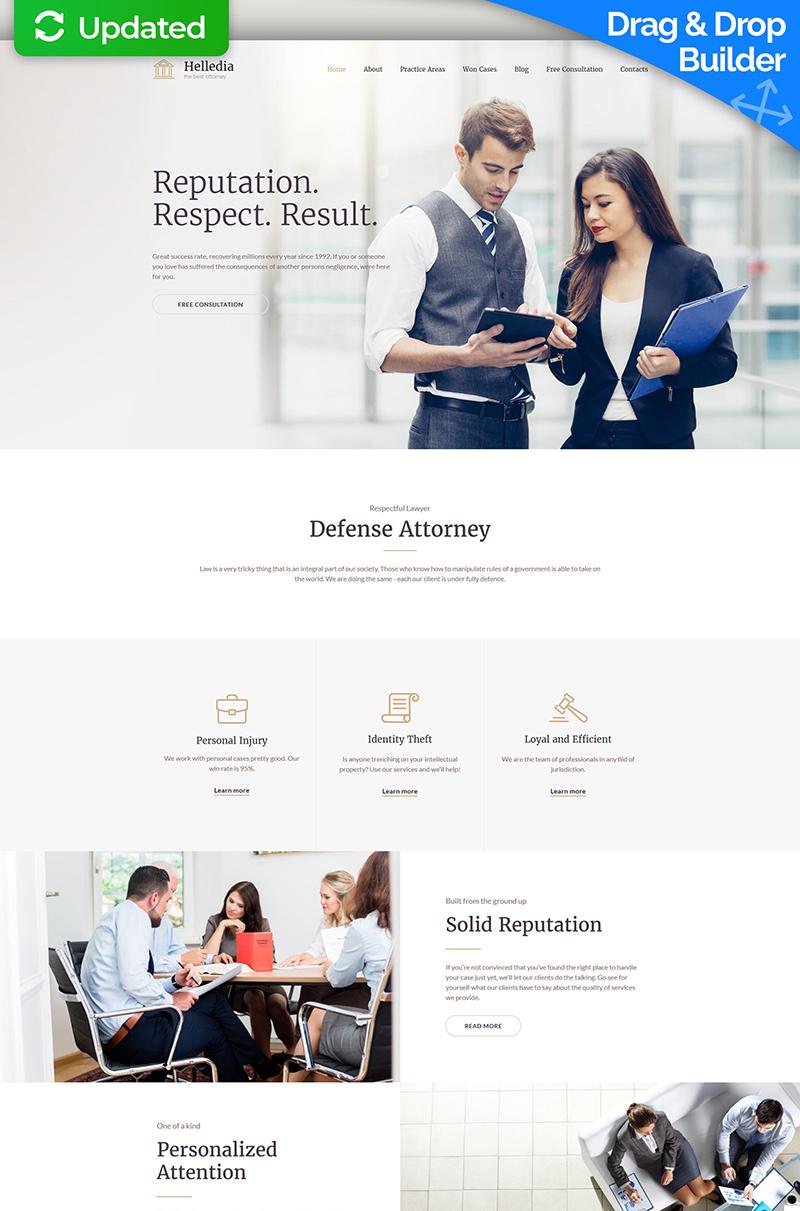 Helledia - Lawyer Premium Moto CMS 3 Template - screenshot