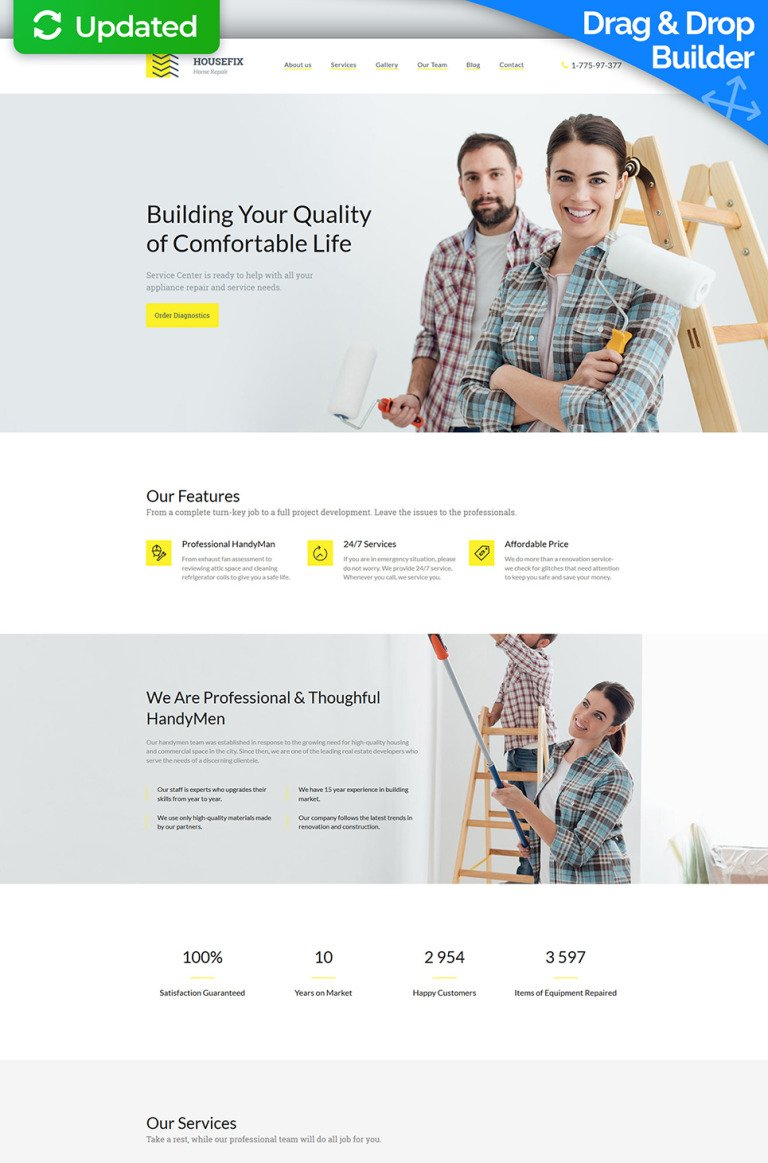Home Repairs Premium Moto CMS 3 Template New Screenshots BIG