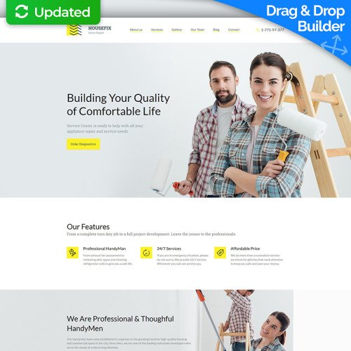 Home Repairs - MotoCMS 3 Template based on Bootstrap