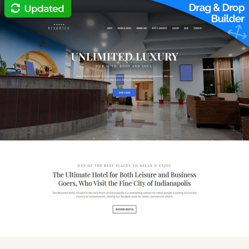 Hotels Premium - MotoCMS 3 Template based on Bootstrap