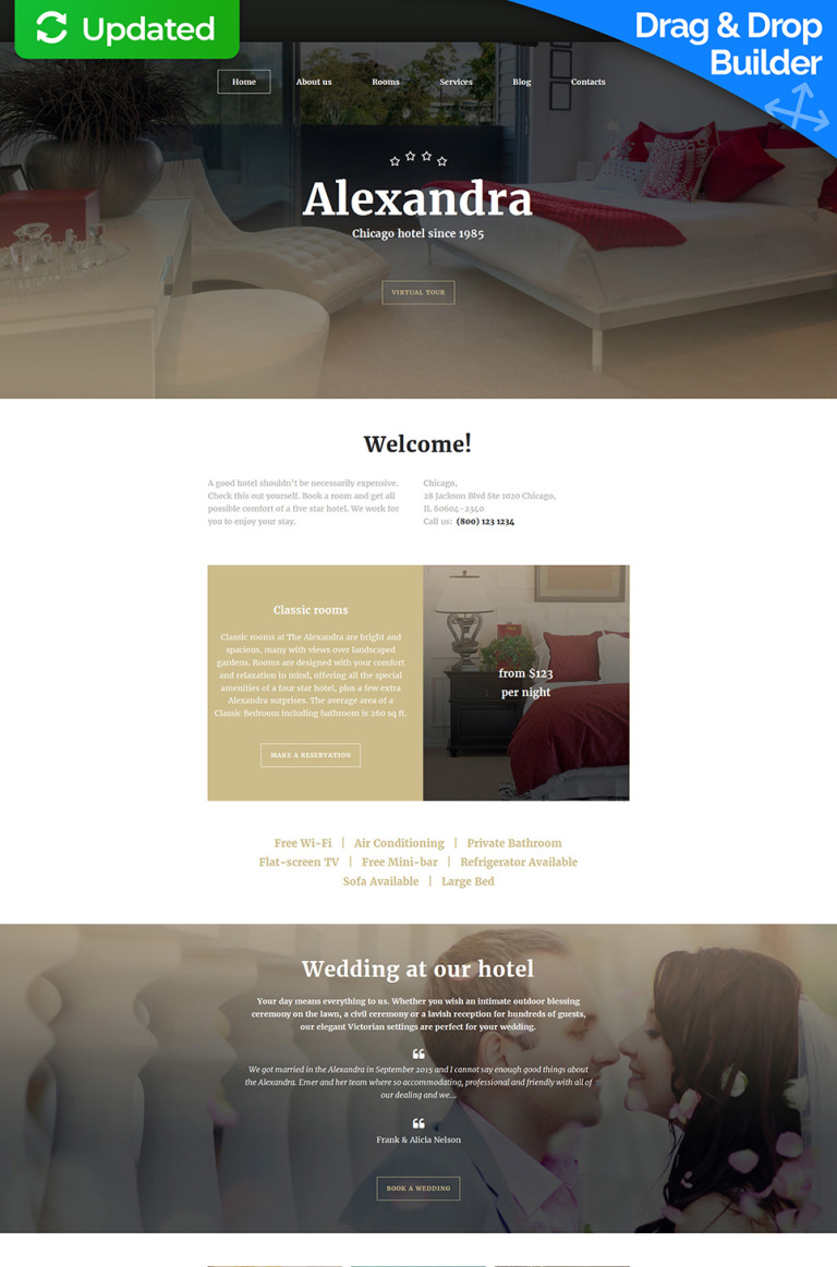 Hotels Responsive Moto CMS 3 Template New Screenshots BIG