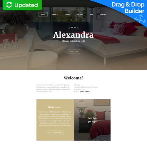 Alexandra - MotoCMS 3 Template based on Bootstrap