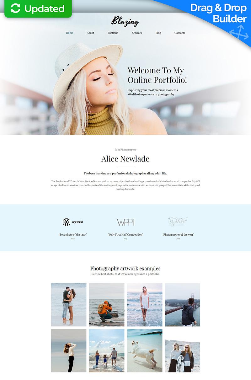 Modèle De Galerie Photo Premium pour portfolio de photographe #59492