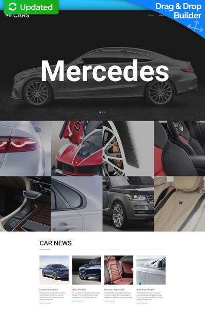 Modèle Moto CMS 3 adaptatif  pour site de revendeur automobile