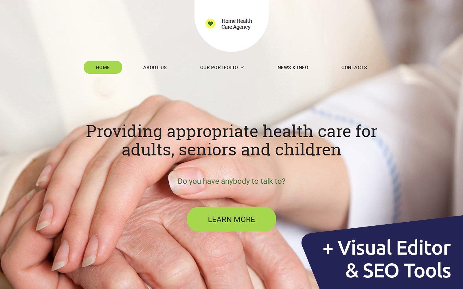 """Moto CMS 3 Template namens """"Healthcare"""" #59441"""