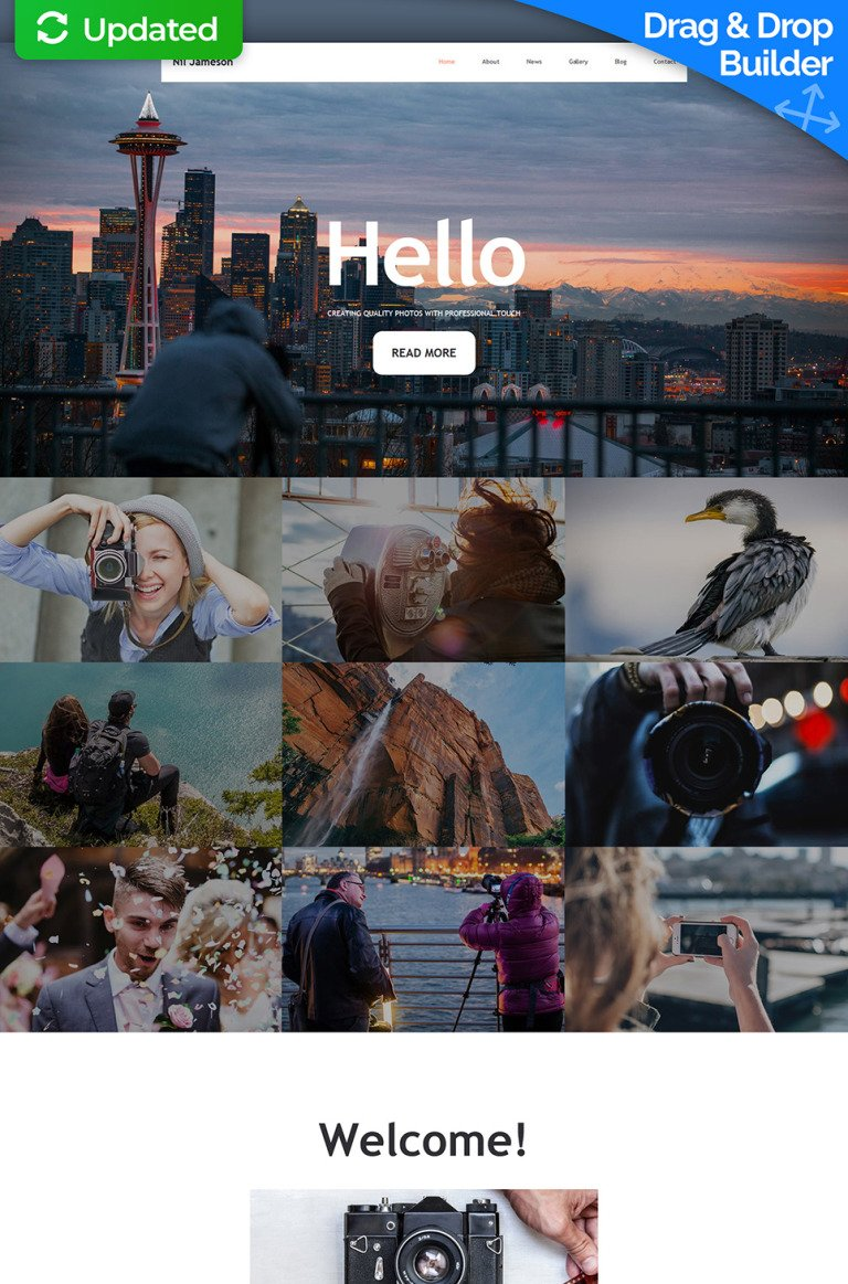 Nil Jameson Responsive Photo Gallery Template New Screenshots BIG