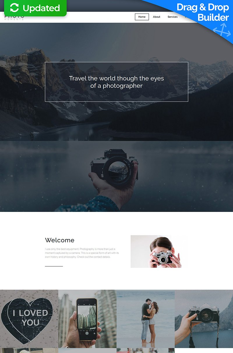 Photo Moments Responsive Photo Gallery Template