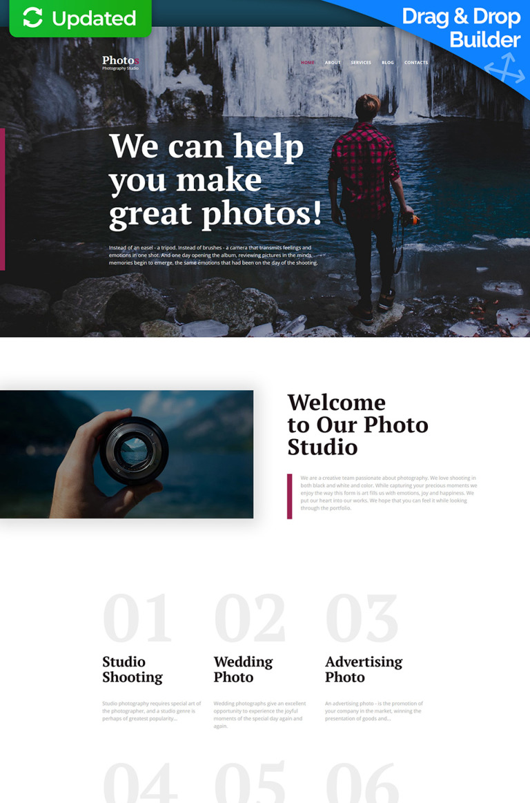 Photo Studio Photo Gallery Template New Screenshots BIG
