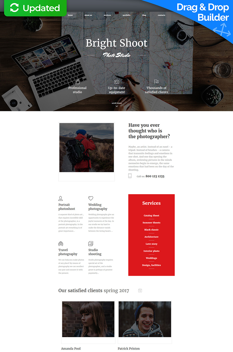 Photo Studio Photo Gallery Template