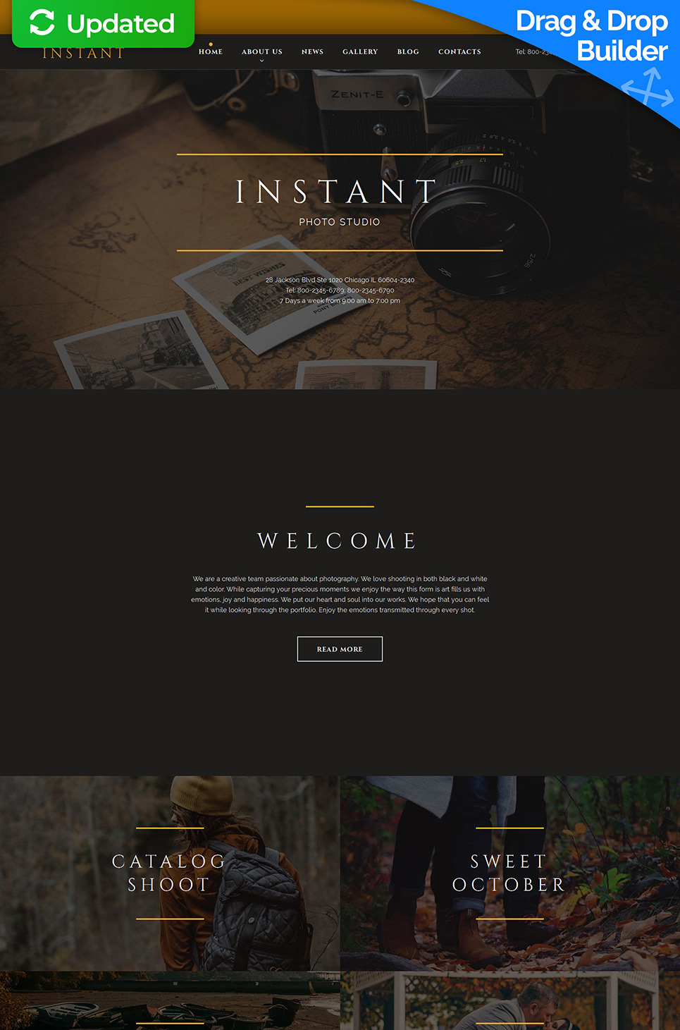 Photo Studio Responsive Photo Gallery Template New Screenshots BIG