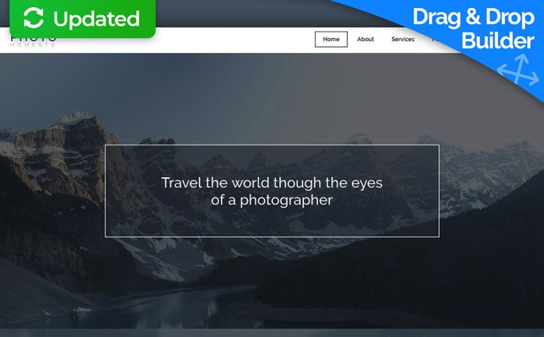Plantilla para Galería de fotos para Sitio de Portafolios de fotógrafos