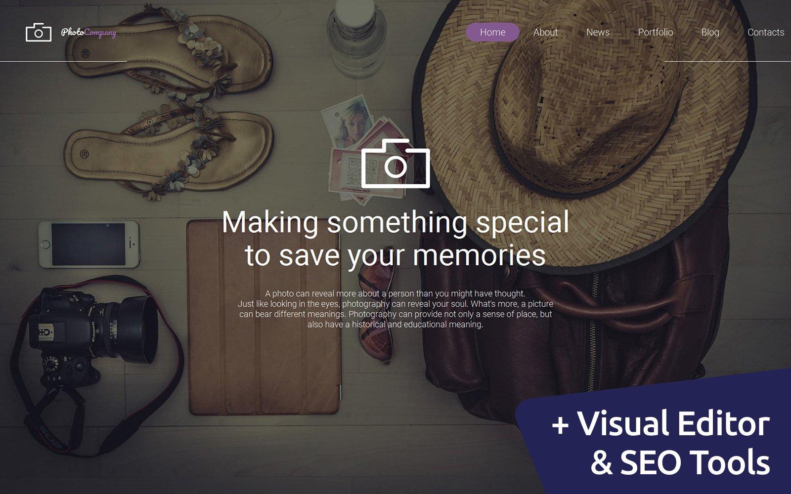 """Plantilla Para Galería De Fotos """"Photographer Portfolio"""" #59493"""