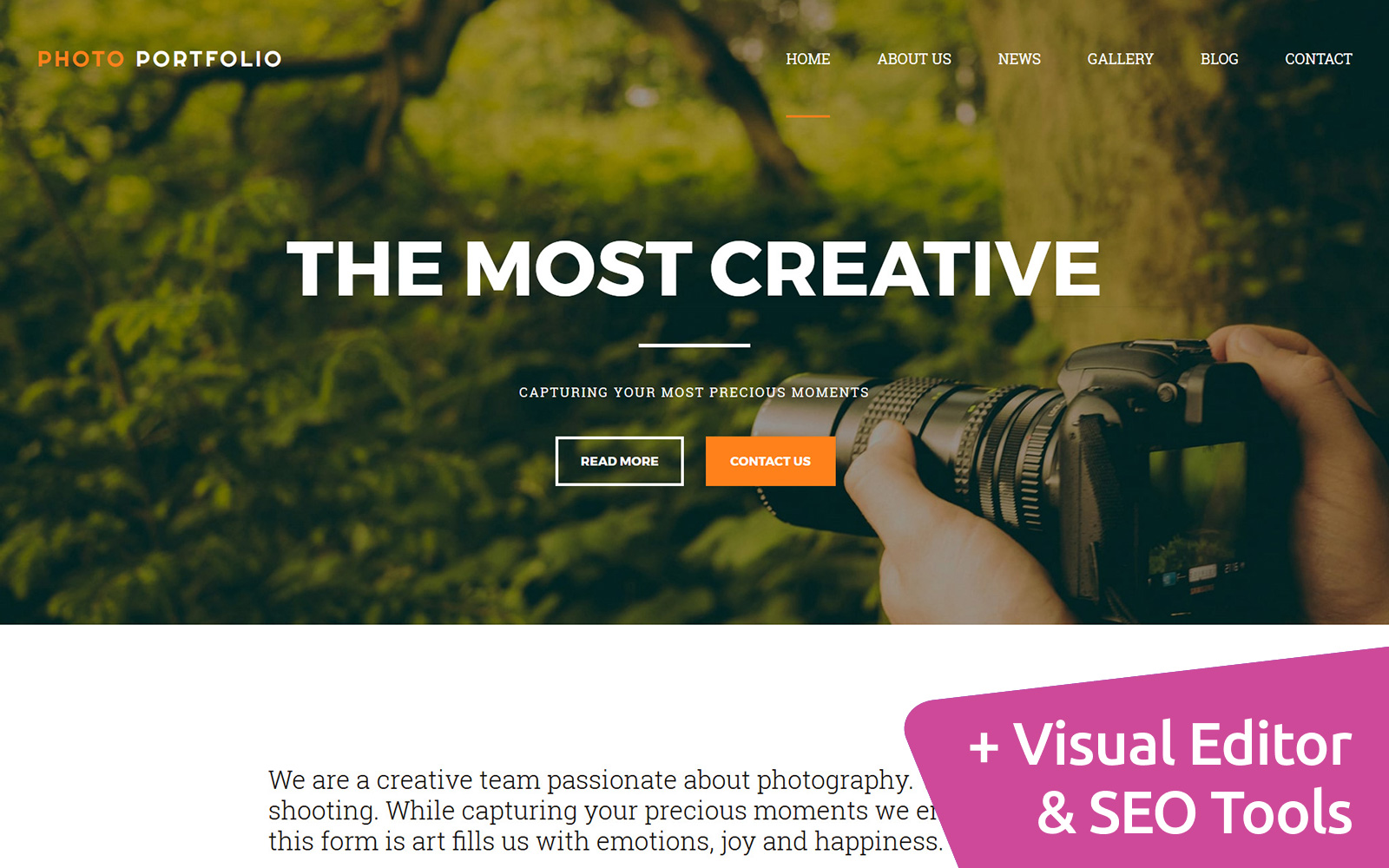 Portfolio Responsive Photo Gallery Template