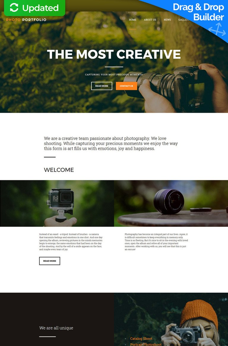 Portfolio Responsive Photo Gallery Template New Screenshots BIG
