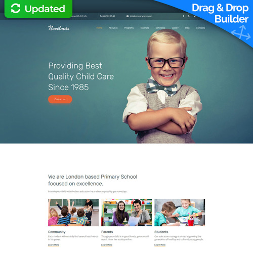 Primary School  - MotoCMS 3 Template based on Bootstrap