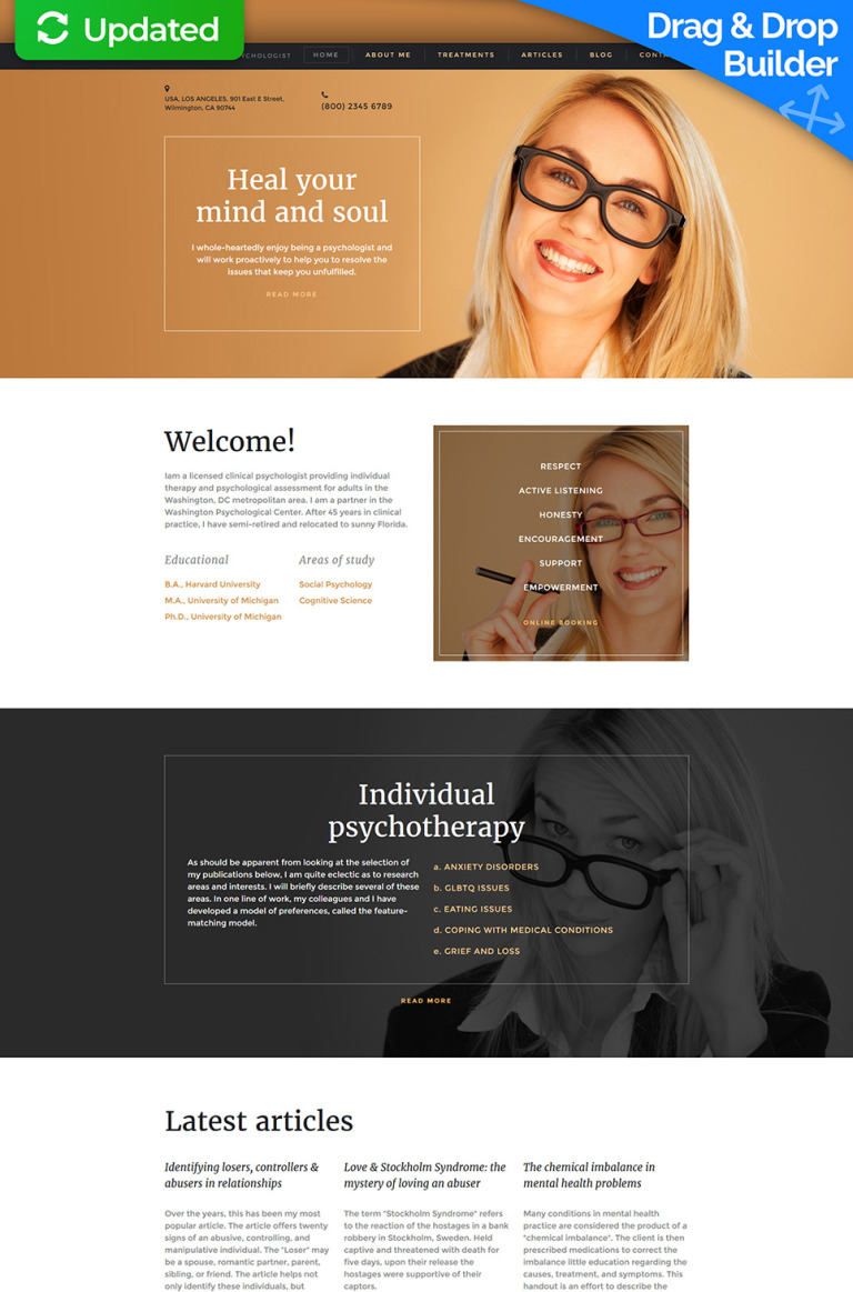 Psychologist Responsive Moto CMS 3 Template New Screenshots BIG