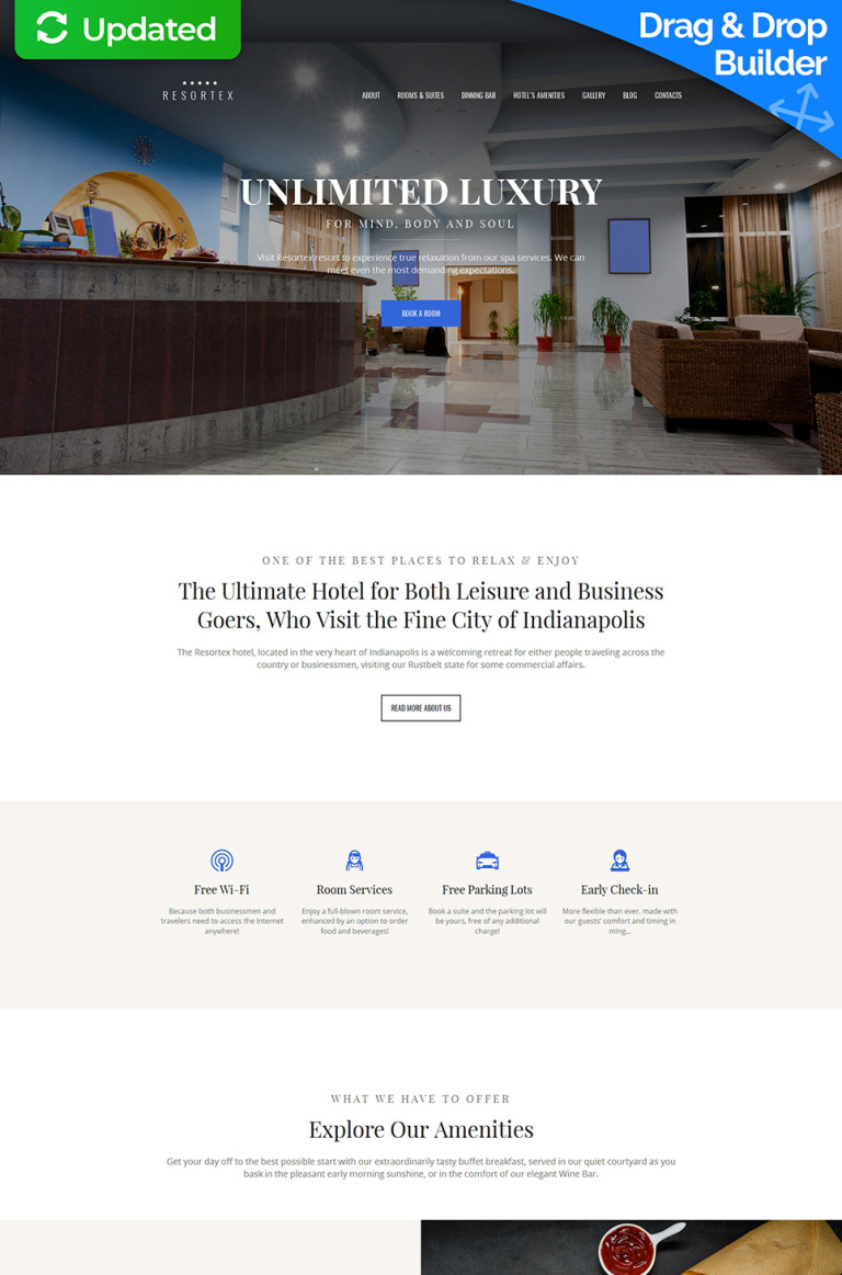 Resortex - Hotels Premium Moto CMS 3 Template New Screenshots BIG