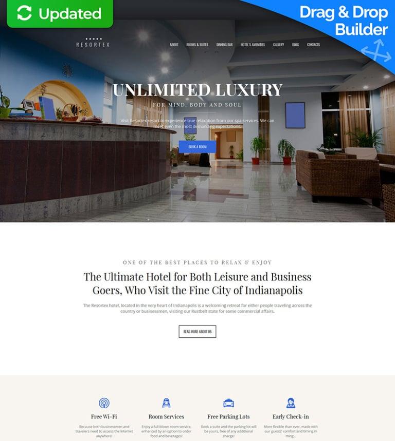 Hotel Moto CMS 3 Template