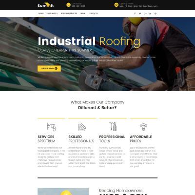 Roofing Company Responsive Moto CMS 3 Şablon
