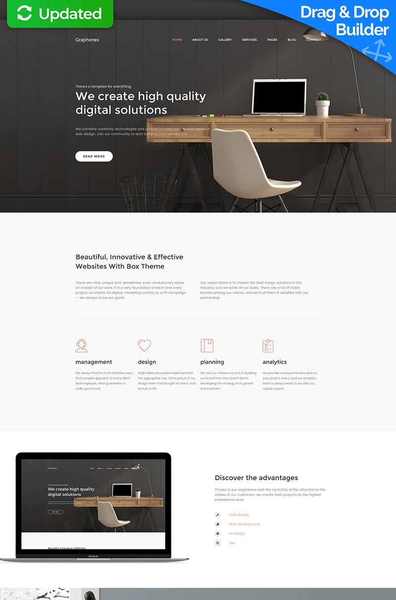 Responsive Graphonex - Web Design Premium Moto Cms 3 #59454
