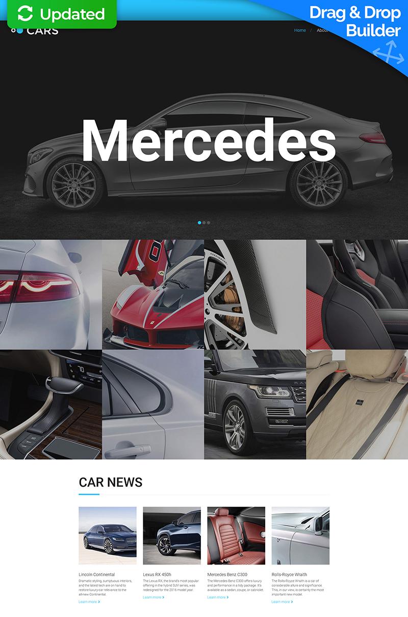 Responsives Moto CMS 3 Template für Autohaus #59415