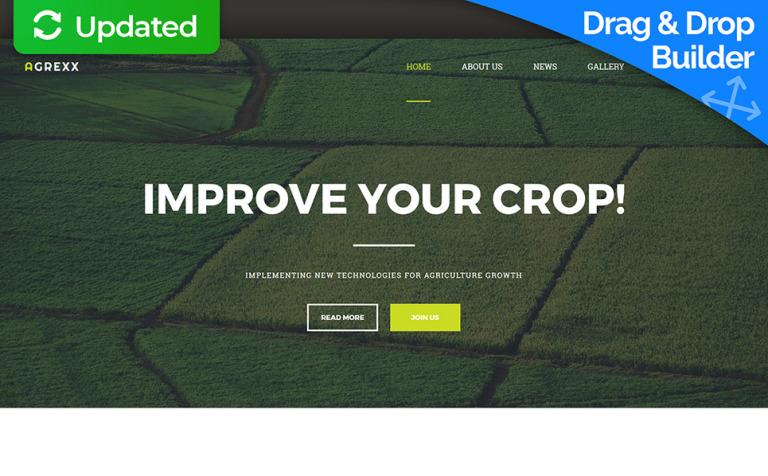 Moto CMS 3 Template #59489 für Landwirtschaft