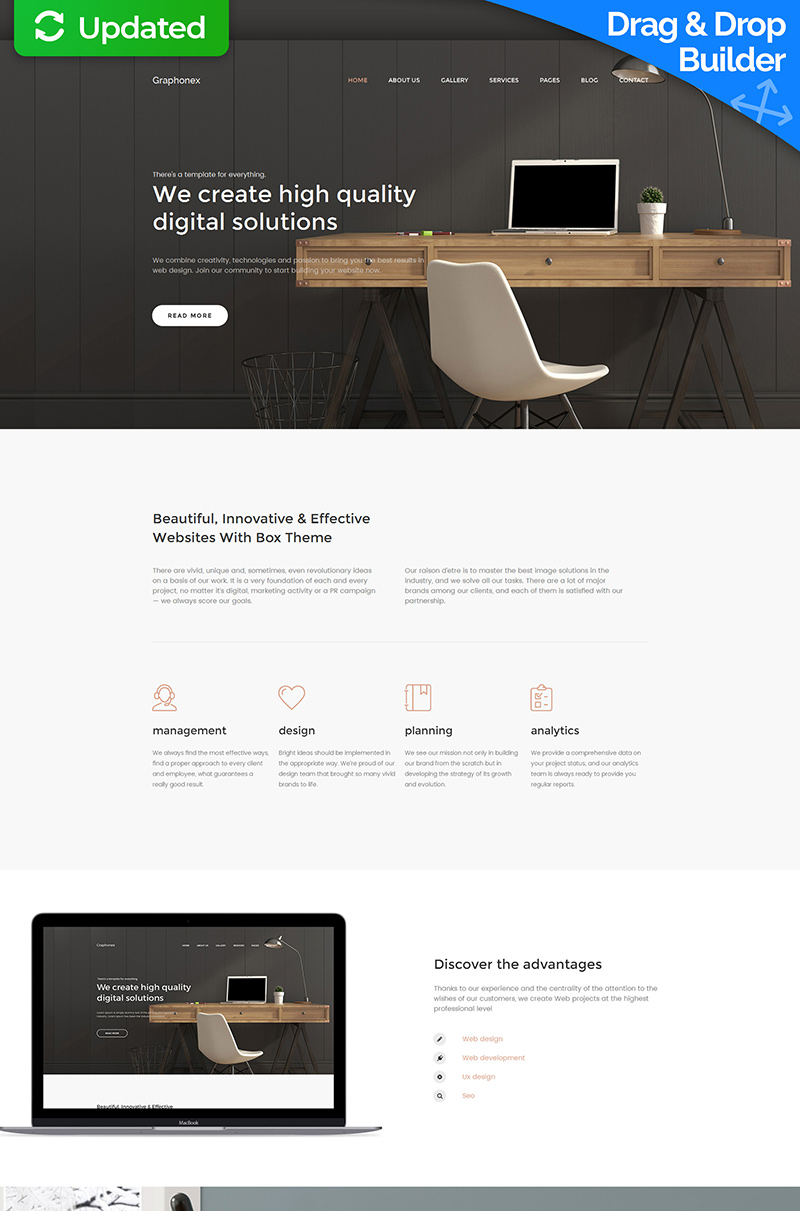 Responsivt Graphonex - Web Design Premium Moto CMS 3-mall #59454