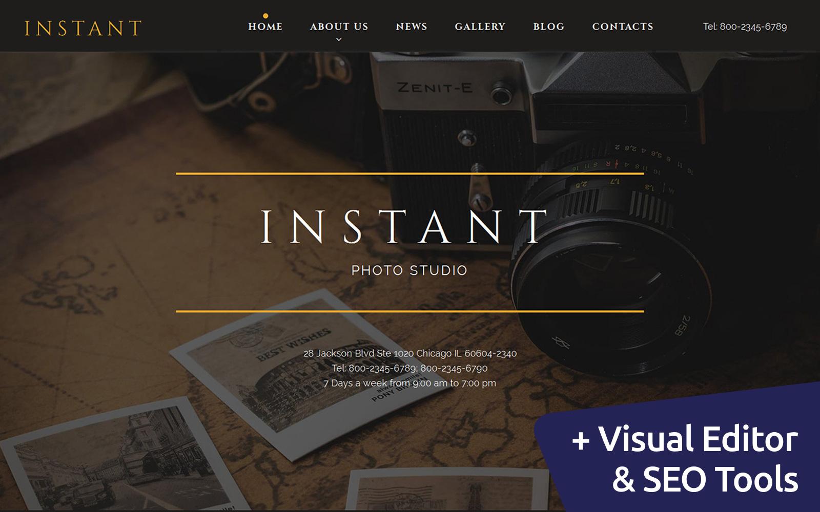 """Responzivní Šablona Fotogalerie """"INSTANT - Photo Studio"""" #59491"""