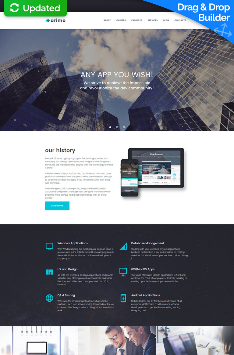 Software Company Responsive Moto CMS 3 Template New Screenshots BIG