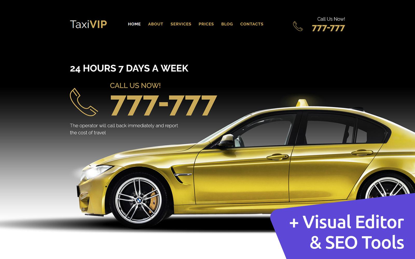 "Tema Moto CMS 3 Responsive #59424 ""Taxi Company"""