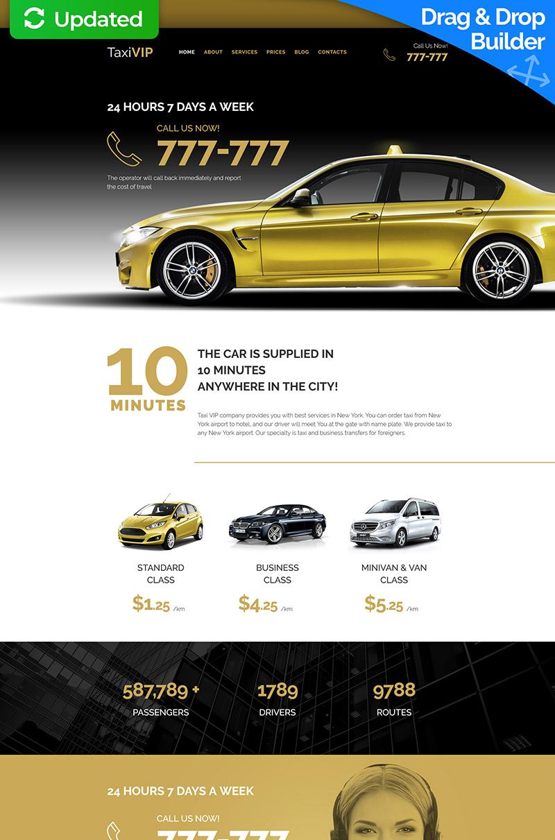 Templates Moto CMS 3 Flexível para Sites de Taxi №59424